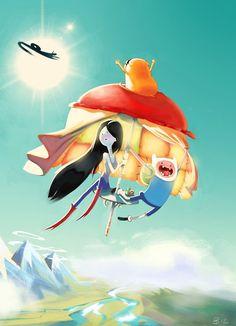 Adventure time - Marceline and Finn by ReineDesCanards Their website