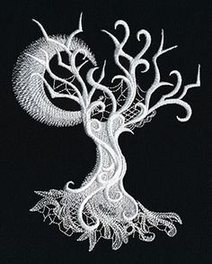 Ghost Baroque - Tree | Urban Threads: Unique and Awesome Embroidery Designs