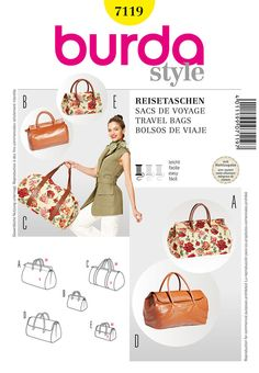 Pattern for Burda Style Travel Bags | Simplicity