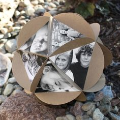 Create custom memory ornaments in minutes! You can use the triangle in the middle of this new die as a pattern to cut your photos out.