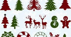 Free 20 SVG Christmas elements.  You can Download the SVG files.  For Personal Use Only.  Password: skhedrdesigns   Download Total Download...
