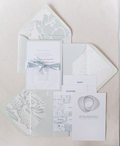 Pale blue wedding invitations designed by the talented Bride + Groom. Photography by Lexia Frank Photography / lexiafrank.com