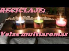 VELAS RECICLADAS MULTIAROMAS - YouTube
