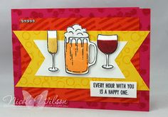 Nicole Wilson Independent Stampin' Up!® Demonstrator: The Artful Stampers Blog Hop Challenge 93 Diy Holiday Cards, Christmas Cards, Cricut Cards, Stampin Up Cards, Bar Drinks, Beverages, Embossed Cards, Mixed Drinks, Halloween Cards