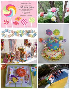 lollipop themed event | ... invitation featuring candy illustrations -- FineStationery .com plates
