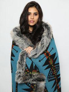 Grey Wolf Faux Fur Throw **PRE-ORDER!!**