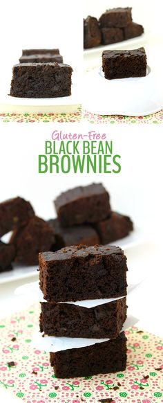 No one needs to know there's black beans hidden in these delicious Gluten-Free Black Bean Brownies. There's also another secret veggie in there and are lightened-up with just 2 tablespoons of coconut oil. A healthy alternative to typical brownie recipes!