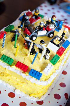 Lego cake - made by the birthday boy.