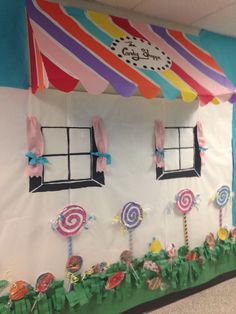 Candy shop wall display at Alcova elementary