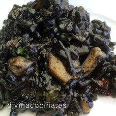 El arroz negro lo podemos servir con alioli. Prueba la tinta y agrega a la cazuela a través de un colador porque a veces suele tener arenilla.
