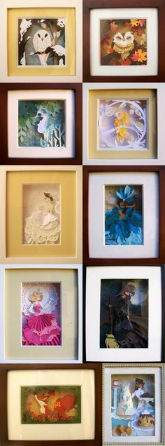 the lovely, disneyish papercuts of the light-hearted brit lee. (how lovely would one of these be as a shower gift for a baby girl?! seriously - they take me back.) more beauties here: http://britsketch.blogspot.com/
