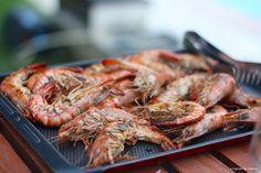 Recette de gambas marinées, cuites à la plancha