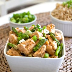 Chicken with Coconut Lime Peanut Sauce