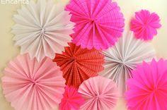 Como fazer Flores de leque papel crepom