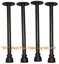 Industrial Pipe Table Legs / Furniture Legs - DIY - Set of 4 legs