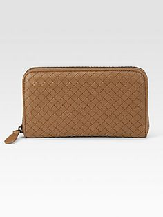 Bottega Veneta Woven Zip-Around Wallet