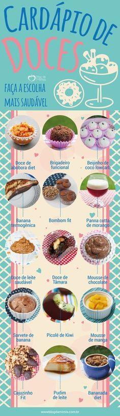 Bateu aquela vontade de doce no meio da tarde, mas você está de dieta de emagrecimento ou simplesmente pretende diminuir o açúcar para ter uma vida mais saudável? Apostem no cardápio de doces: sugestões menos calóricas ou mais nutritivas que…