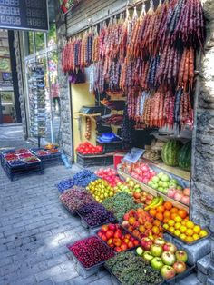 Mostly excited for the fruit vendors in Tbilisi, Georgia!