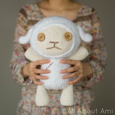 "Free crochet pattern for ""Cotton the Sheep"" from the anime movie ""Oblivion Island""!"