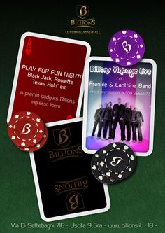 Billions Vintage Live + Play for Fun night!