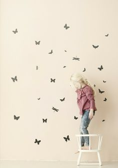 ferm LIVING Mini Butterflies Wall Decal//