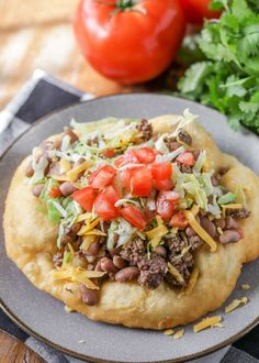 """Delicious Homemade Fry Bread - aka """"Navajo Tacos"""" or """"Indian Bread"""" - one of the best recipes you'll ever try! Pillows of dough fried until it's a little crispy on the outside, but soft on the inside. Make it sweet or savory! Indian Fry Bread Recipe Easy, Fried Bread Recipe, Bread Recipe Video, Navajo Tacos, Homemade Naan Bread, Homemade Fries, Bread Recipe Without Milk, Mexican Food Recipes, Dinner Recipes"""