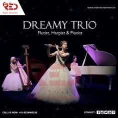 Give a celestial touch to your events and weddings with our Dreamy Trio performing enchanting melodies!   For more such elegant acts, visit us now at: http://www.redentertainment.in/in-house-act.aspx