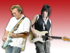 Eric Clapton and Jeff Beck
