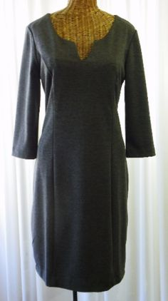 9b79f6ceaa Banana Republic Rayon Charcoal Day Dress Size 8 - The Wicker Form - 1 Home  Decor