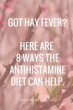 Got the allergy blues? Looking for natural solutions to your seasonal hay fever symptoms? Check out these 8 ways the antihistamine diet can help. remedies for allergies remedies for constipation remedies for diabetes remedies for eczema remedies for sleep Allergy Remedies, Sleep Remedies, Homeopathic Remedies, Home Remedies, Natural Remedies, Natural Cure For Allergies, Natural Allergy Relief, High Histamine Foods