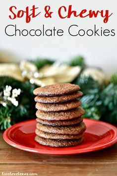 This soft & chewy chocolate cookies recipe without chocolate chips will be your new go to when you\'re craving chocolate or for holiday cookie exchanges! #chocolate #chocolaterecipes #chocolatecookies #cookierecipes #cookies #cookierecipe #recipes #recipe