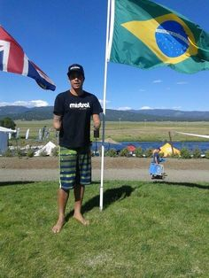 Athlete Jonas Letieri representing Brazil and the Mistral in the Payette River in Idaho USA 2015 Games #mistralsup