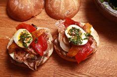 Recipe: Chivito Steak Sandwich || Photo: Fred R. Conrad/The New York Times