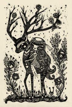 Satanic cute Deer | Ciou   Another one of my favorite artist Ciou