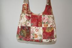 Your place to buy and sell all things handmade Gypsy Bag, Handmade Purses, Hobo Bag, Messenger Bag, Red And White, Upcycle, Shoulder Bag, Pockets, Floral