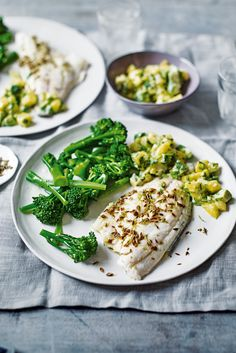 For a quick, midweek meal for two, these cumin-spiced sea bass fillets are fresh and vibrant. The mango, avocado and coriander salsa adds a tropical vibe, with a hot kick from the horseradish sauce.   Tesco