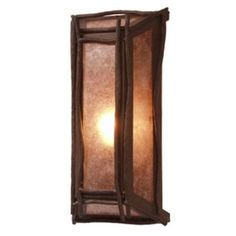 Steel Partners Sticks 1 Light Wall Sconce Shade Color: Slag Glass Pretended, Finish: Architectural Bronze