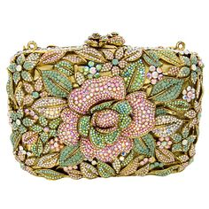 Pink, Green, and Gold Butler and Wilson jeweled clutch