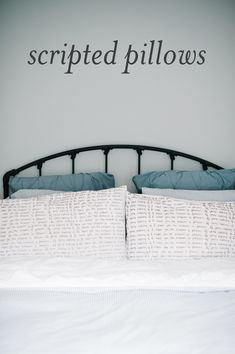 A lovely way to celebrate a favorite book or poem: DIY scripted pillows.