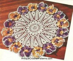 The Pansy Doily Crochet Pattern  Free Crochet Doily Pattern