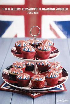 Union Jack Cupcakes - Howard Shooter