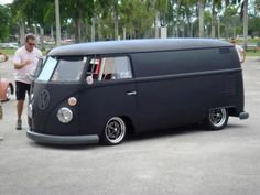 Not really a truck. but pretty darn cool … Kombi Trailer, Vw Caravan, Vw Camper, Volkswagen Transporter, Volkswagen Bus, Vw T1, Combi T1, Vw Rat Rod, Monster Car