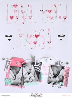 Layout *Love You Most* - Scrapbook Werkstatt Februar Kit 2017 *Herzklopfen* - von Ulrike Dold