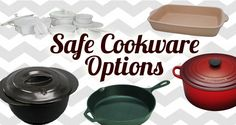 My highest rated cookware and bakeware that is eco-friendly and won't leach chemicals in to food. In order of preference, X-trema, cast iron, enameled cast iron/stoneware, and glass.