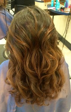 Balayage with a red/copper glaze