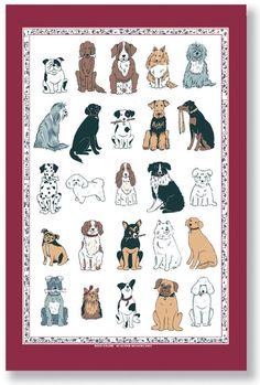 Ulster Weavers | Linen Tea Towel | Dogs Galore | [000DGA]