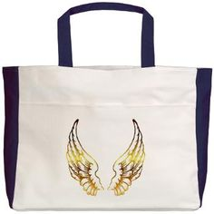 Gold Wings Beach Tote