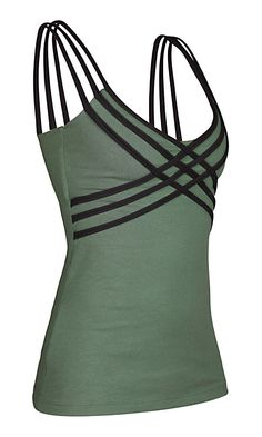 Womens Tank - Organic Cotton Tank - Yoga Top - Green Tank Top. $48.00, via Etsy.