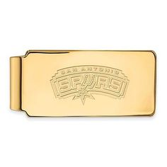 14k #yellow gold nba basketball logoart #licensed san antonio spurs #money clip,  View more on the LINK: http://www.zeppy.io/product/gb/2/191973075664/