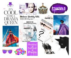 """""""Its cool to be a drama queen"""" by thevintagecinderella ❤ liked on Polyvore featuring art"""